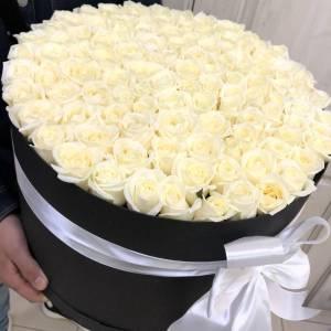 101 белая роза R2105